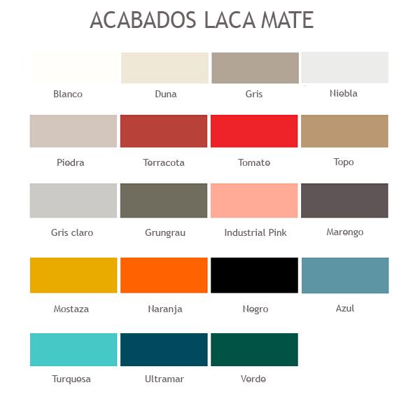 Colores Estructura Lacada